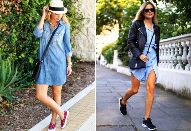 платье рубашка с какой обувью носить