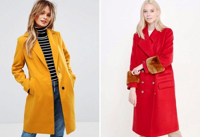модные цвета пальто 2018