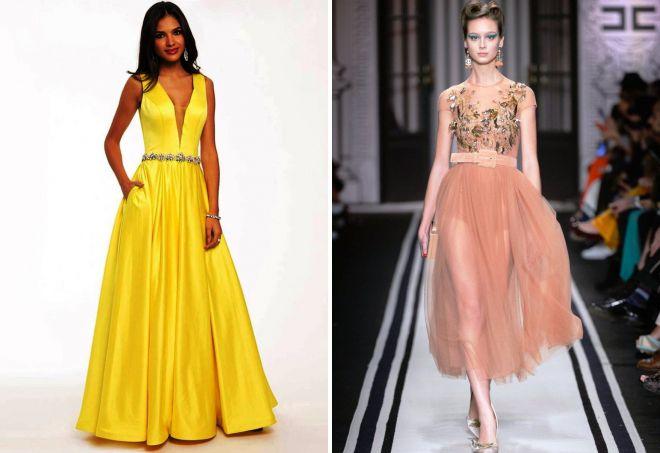 модные цвета платьев 2018