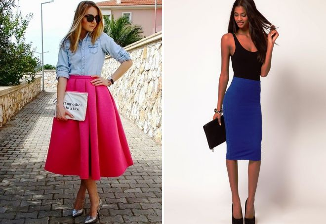 цвет одежды 2018 юбки