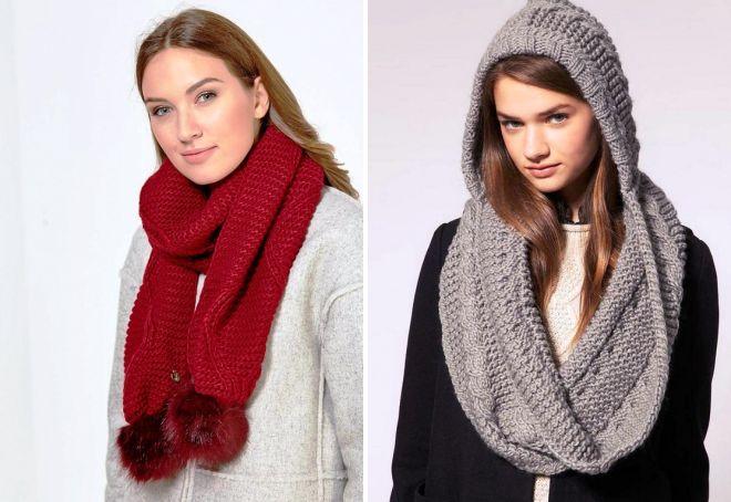 модные цвета шарфов 2018