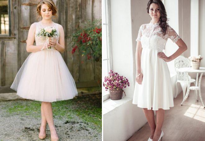 короткие свадебные платья 2017