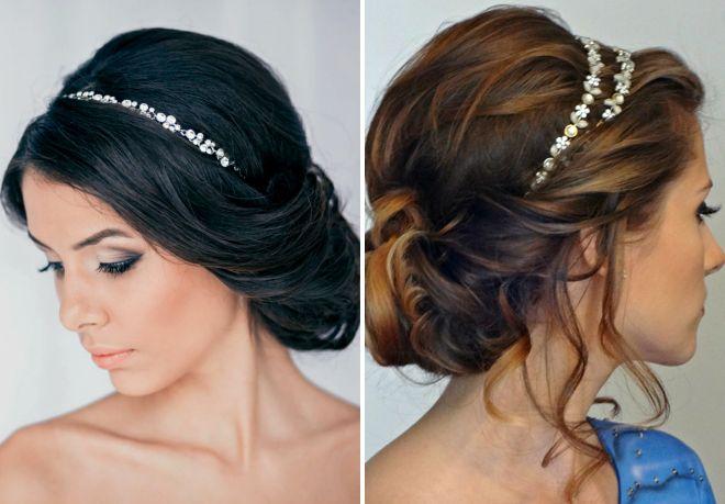 Свадебные прически каре греческий стиль