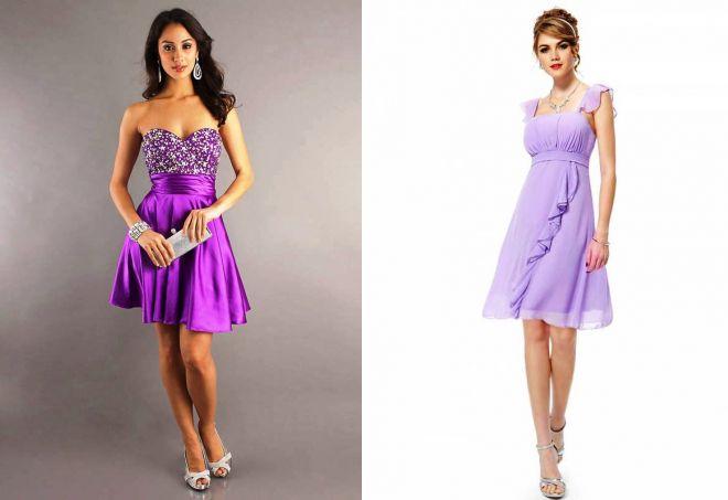 модные сиреневые платья