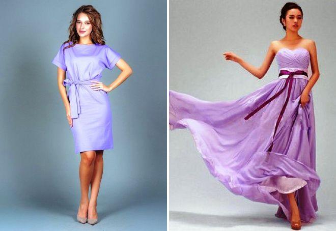 платья сиреневого цвета