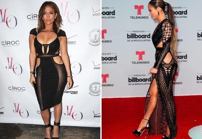Дженнифер Лопез в прозрачном платье