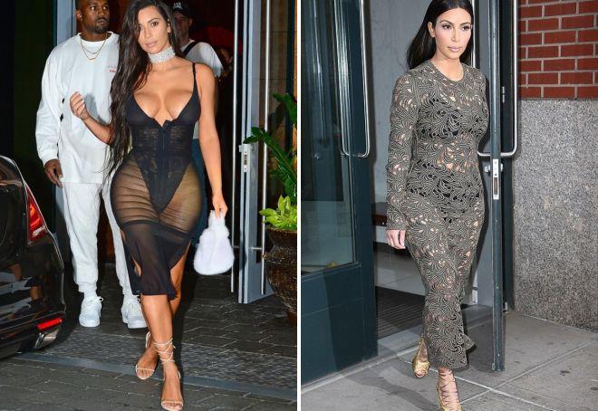 Ким Кардашьян в прозрачном платье