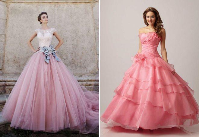 красивые розовые платья