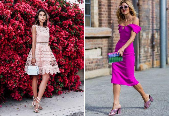 летние платья розового цвета