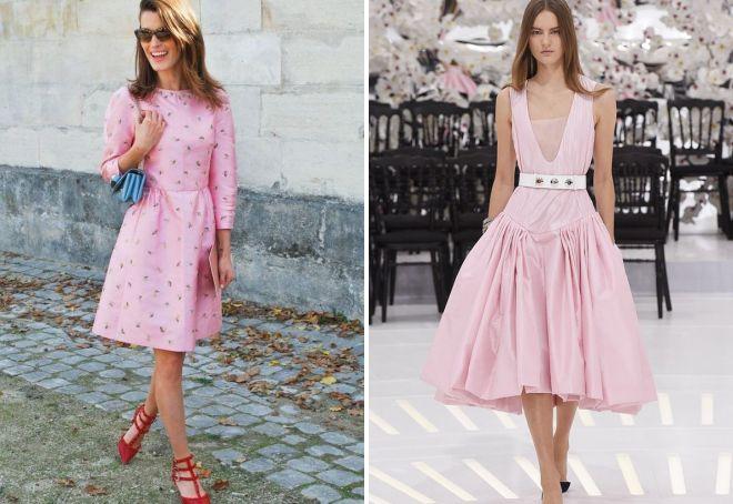 розовые платья 2017