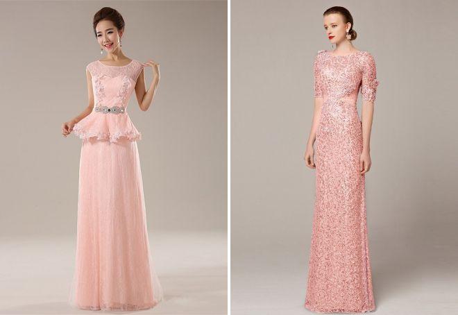 розовые женские платья 2017