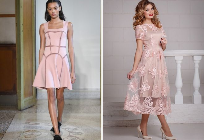 модные платья розового цвета
