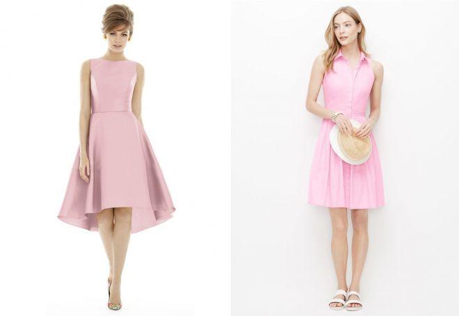 розовые платья для женщин