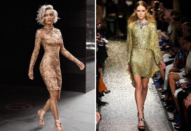 туфли под золотое платье