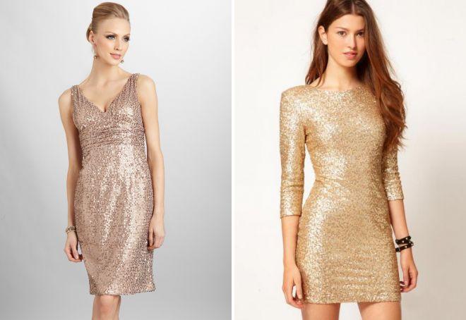 аксессуары к золотому платью