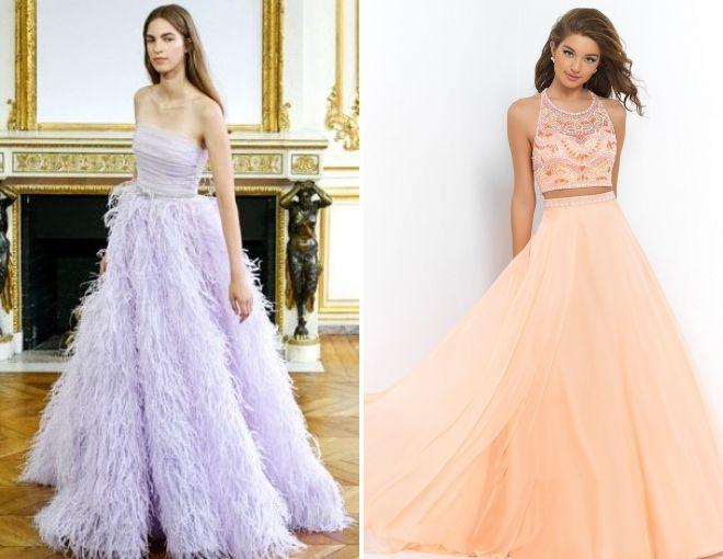 выпускные платья в пол 2018 года