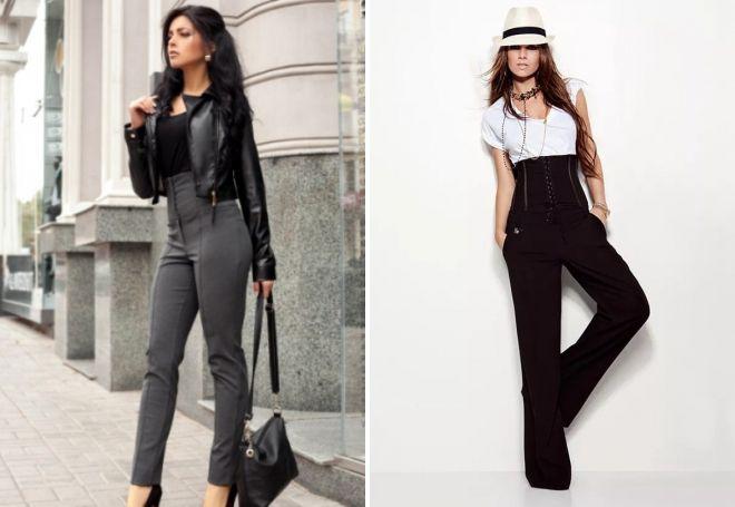 брюки с корсетным поясом