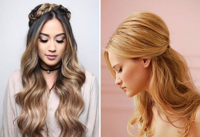 модные прически на длинные волосы 2018