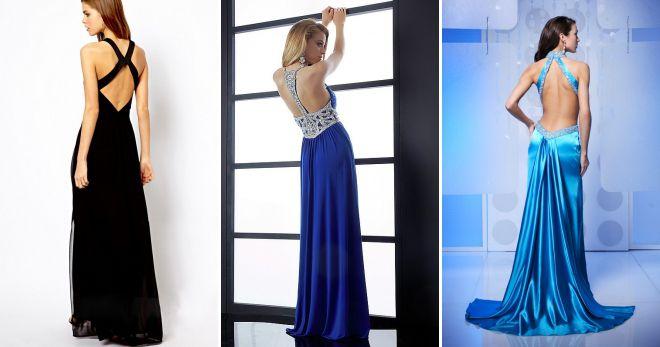 длинные платья в пол с открытой спиной