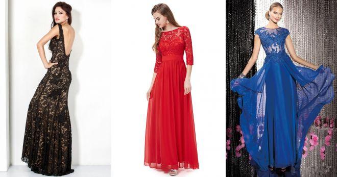 длинные кружевные платья в пол