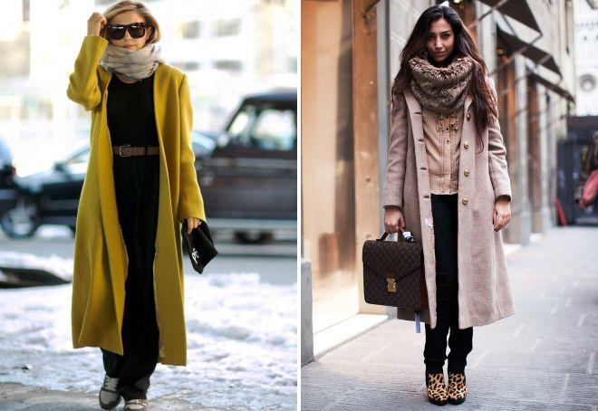 шарф к длинному пальто