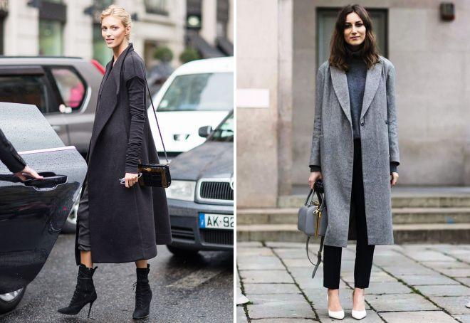 обувь к длинному пальто