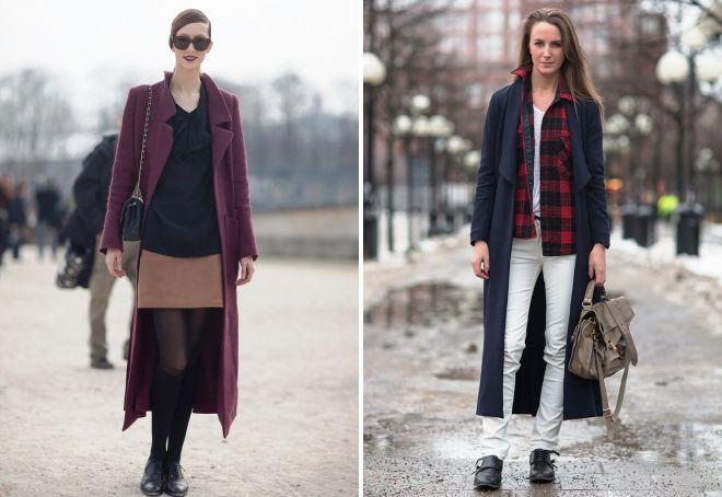 образы с длинным пальто