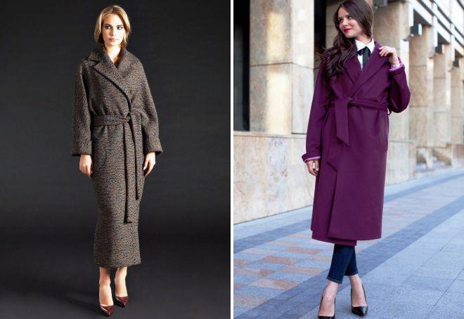 длинное пальто халат