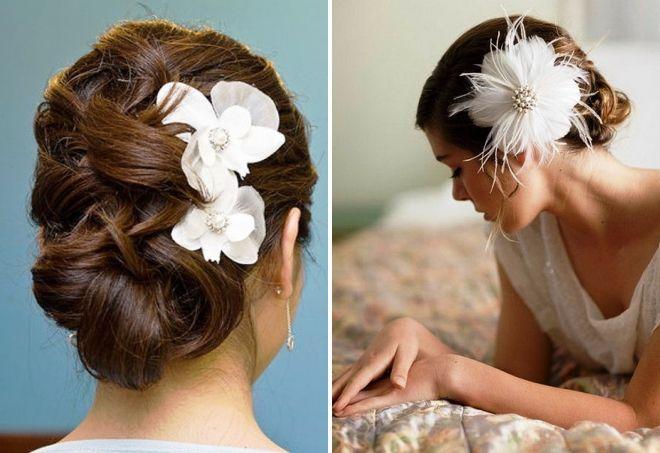 красивые украшения для волос канзаши
