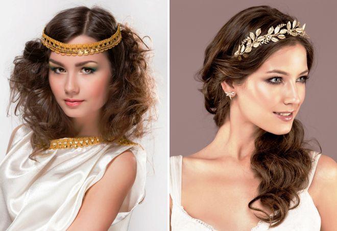 украшения для волос в греческом стиле
