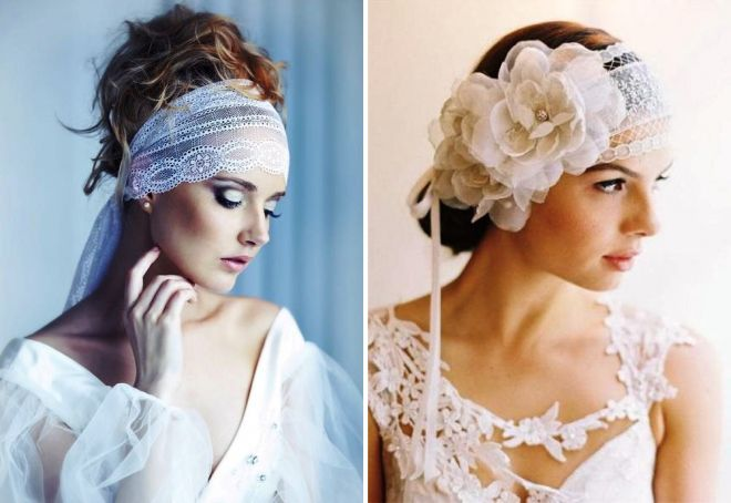 свадебные украшения в волосы для невесты