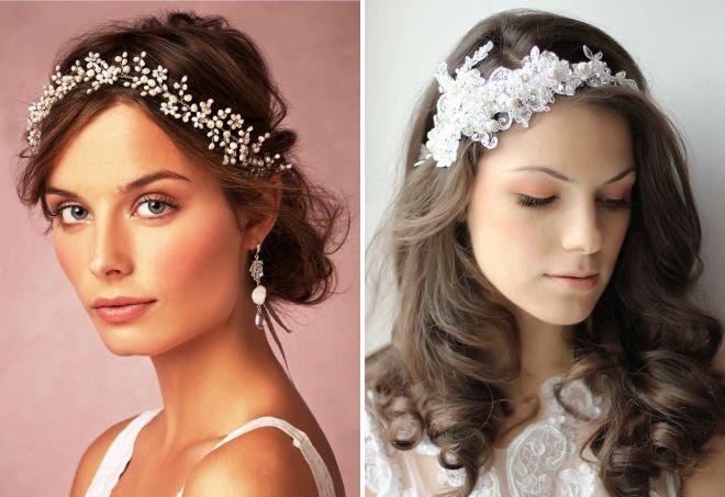 украшения для волос на свадьбу