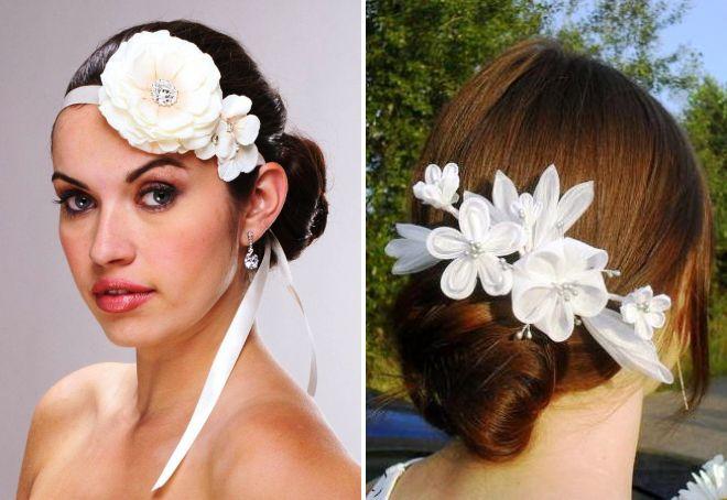 украшения для волос из атласных лент
