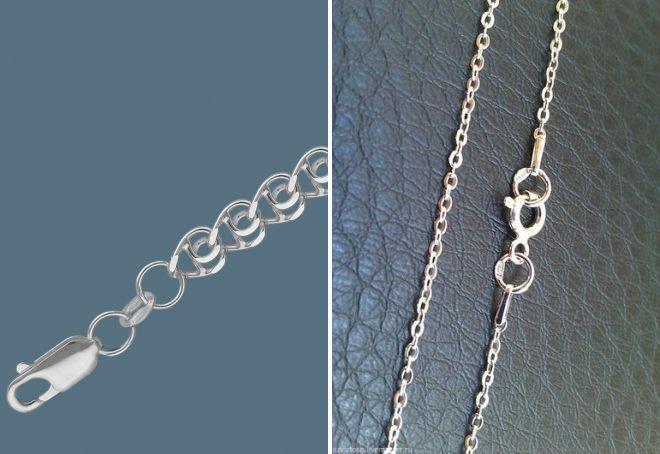 серебряная цепочка якорное плетение