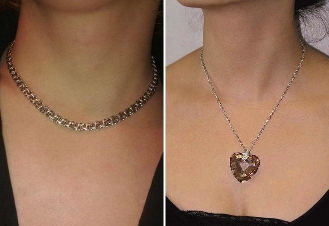 женская серебряная цепочка на шею