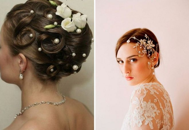 свадебная прическа с цветами в волосах