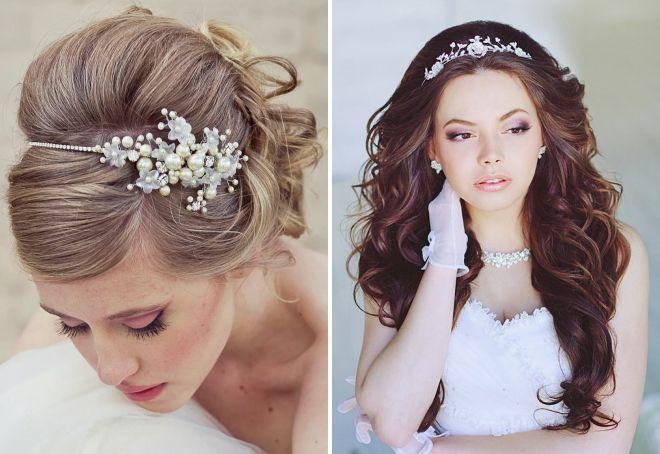 свадебные прически с цветами без фаты