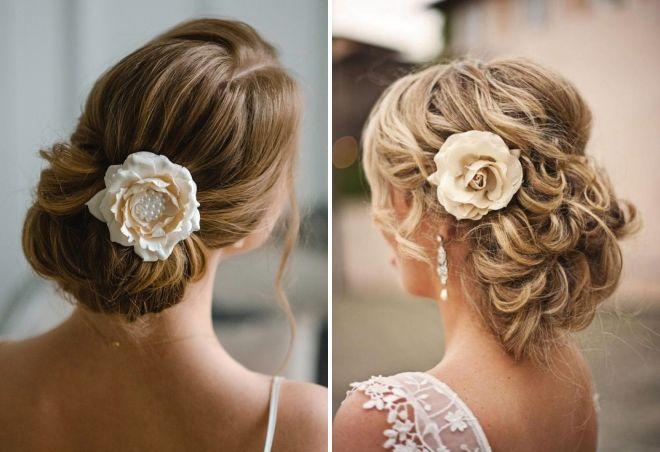 модные свадебные прически с цветами