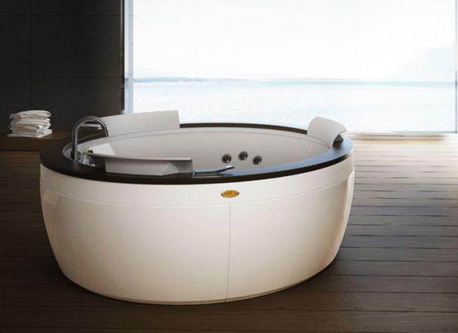 круглая ванная с гидромассажем