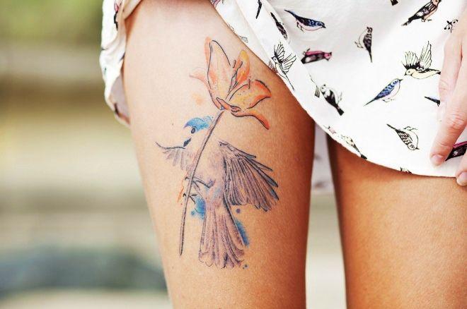 цветы на ноге нежное