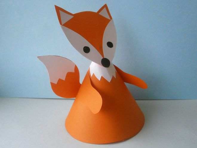 приклеим хвост к туловищу лисы