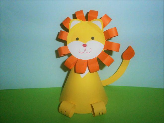 как сделать льва из бумаги