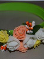 Как сделать ободок с цветами?