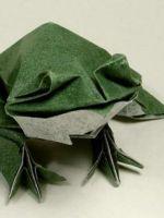 Как сделать жабу из бумаги?