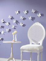Бабочки на стену своими руками