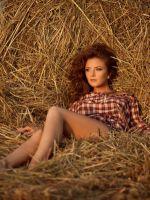 Фотосессия в сене