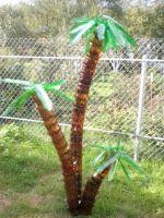 Как из бутылок сделать пальму?