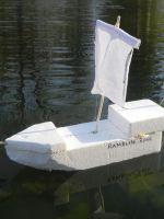 Как сделать кораблик из пенопласта?