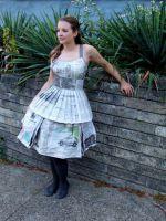 Как сделать платье из газет?
