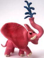 Как слепить слона из пластилина?